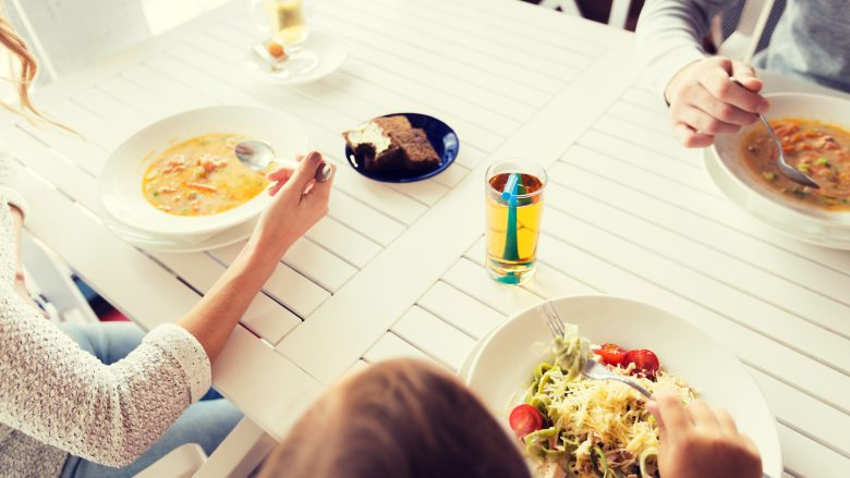 一人でも気楽に入れるホノルルのファミリーレストラン