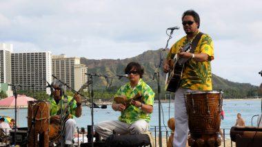 ハワイアンミュージックを生演奏で聴きながら優雅ディナー