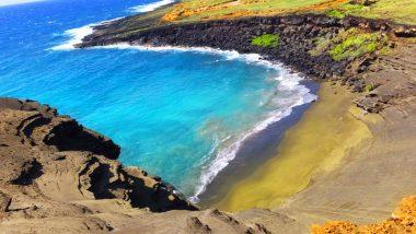 ハワイ島の奇跡!グリーンサンドビーチの砂は月光を浴びたエネルギッシュな天然石
