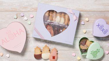 ホノルル・クッキー・カンパニーでバレンタインズデーのクッキーパッケージが新発売
