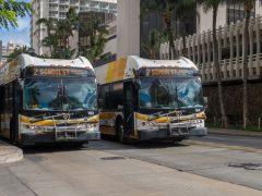 ホノルル市バス(The Bus)一部地域にて24時間運行をスタート!