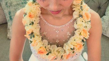 憧れのハワイウエディング♪幸せのレイを新郎新婦にプレゼント。