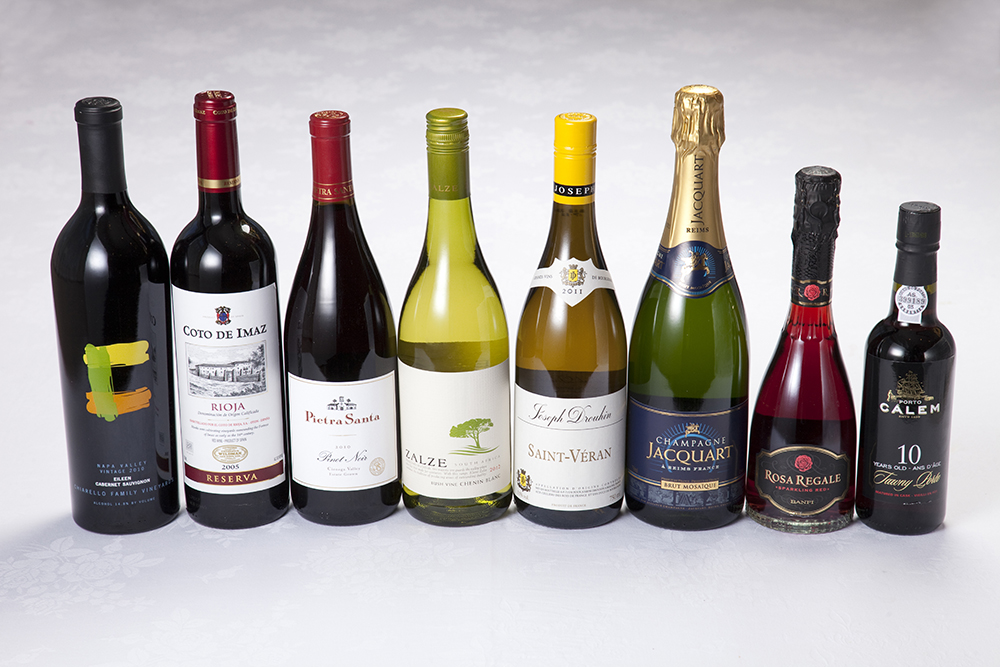 赤白ワイン、シャンパン、デザートワイン/ポートワイン