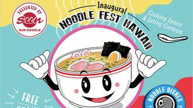 「第1回ヌードル・フェスト・ハワイ」開催! ハワイ人気店の麺料理を食べ尽くせ!