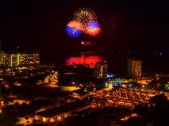 【一時休止中】大興奮の5分!アロハフライデーに打ち上がるヒルトン花火をどこで見る?