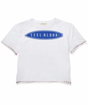 『サーフボード柄 FEEL ALOHAボクシーTシャツ』