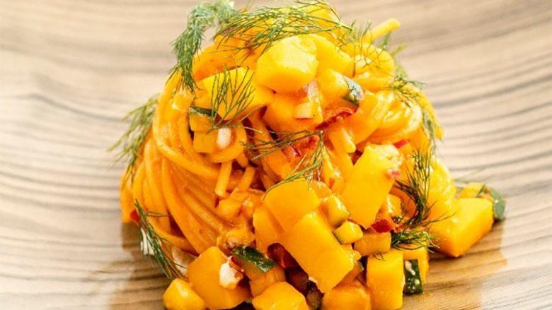 タオルミーナの夏季限定のマンゴーメニューに今年は「マンゴーパスタ」が登場!
