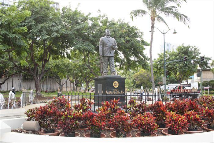 カラカウア王 銅像/King Kalakaua Statue
