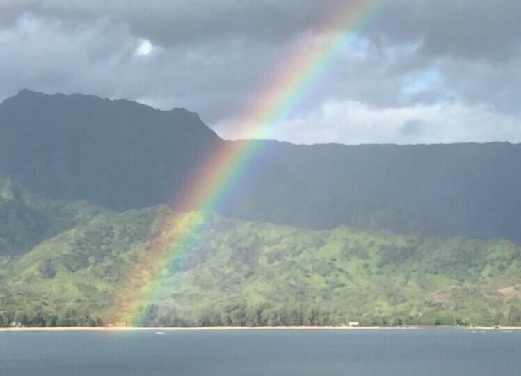 カウアイ島の雨と虹