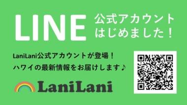 LaniLaniのLINE公式アカウントが登場!