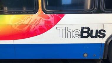 走行注意!キングストリートに 「TheBus(バス)の専用レーン」が誕生