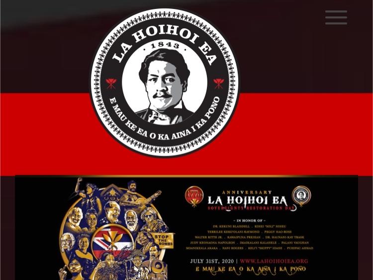 Lā Hoʻihoʻi Eaハワイ主権回復日HP