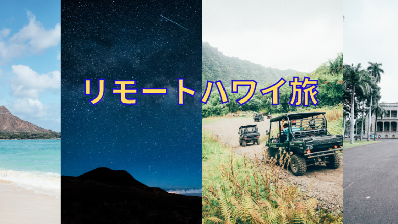 ハワイを擬似体験できるオンラインツアー「リモートハワイ旅」開始