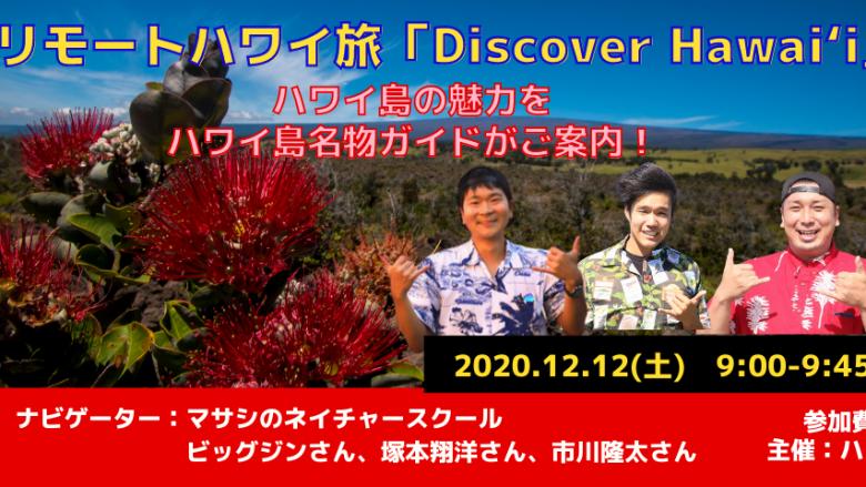 ハワイ島マサシのネイチャースクール・名物ガイド3名と巡るハワイ島バーチャル観光