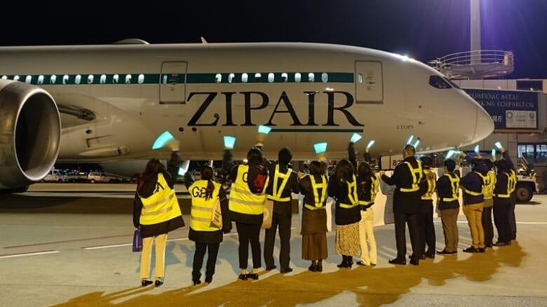 【速報】ZIPAIR/ジップエアーがホノルルへ向け離陸!気になる初便搭乗人数も大公開
