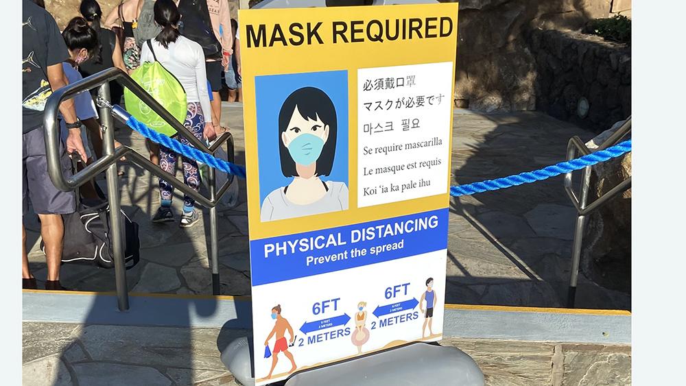 マスクが必須_ハナウマ湾