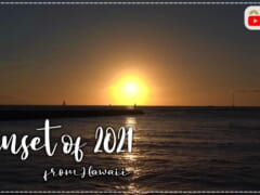 【4K HAWAII】ハワイから作業用BGM?夕日が水平線に沈むまでの映像をお届け!