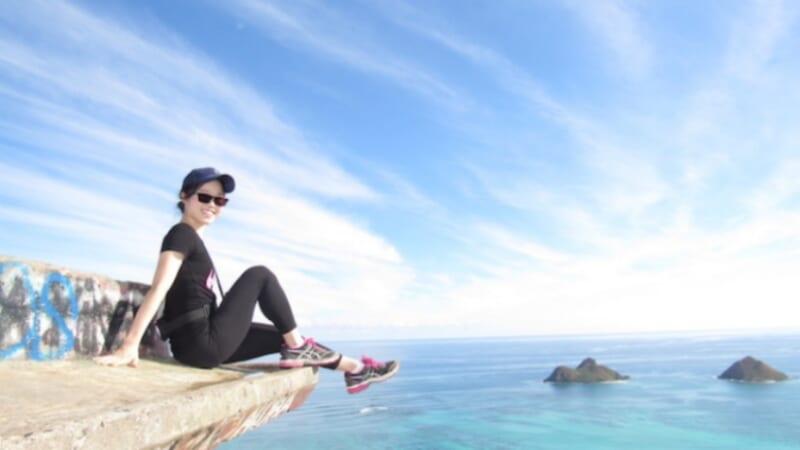 【ハワイ美女】仕事帰りにハワイへ直行!ホノルルマラソンに参戦のスポーツウーマン「Erinaさん」