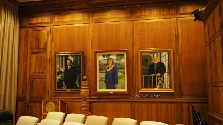 【ハワイからお届け】第2弾 ハワイ州政府ビル知事室プレスルームの肖像画をチェック!