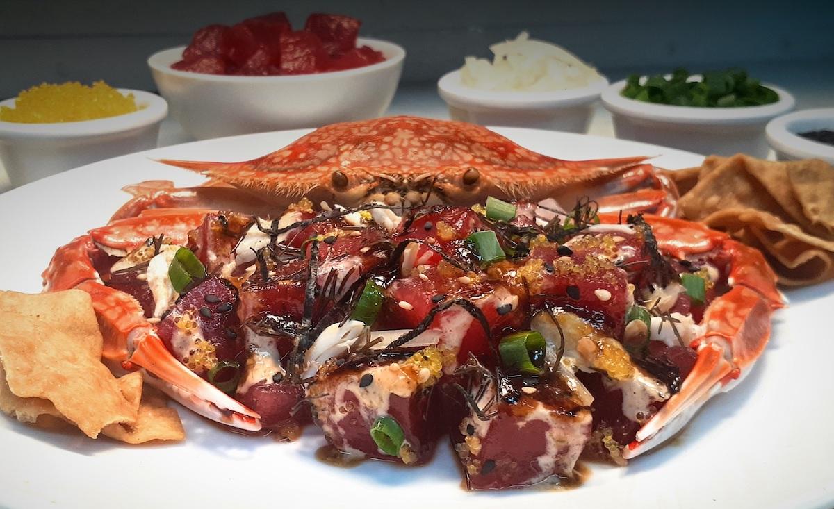 tamashiro-market-ahi-poke-with-creamy-crab-sauce