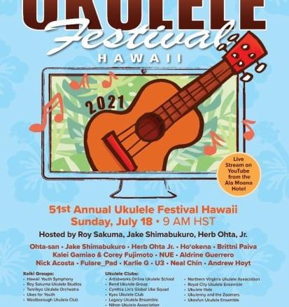ウクレレフェスティバル・ハワイのラインナップが発表